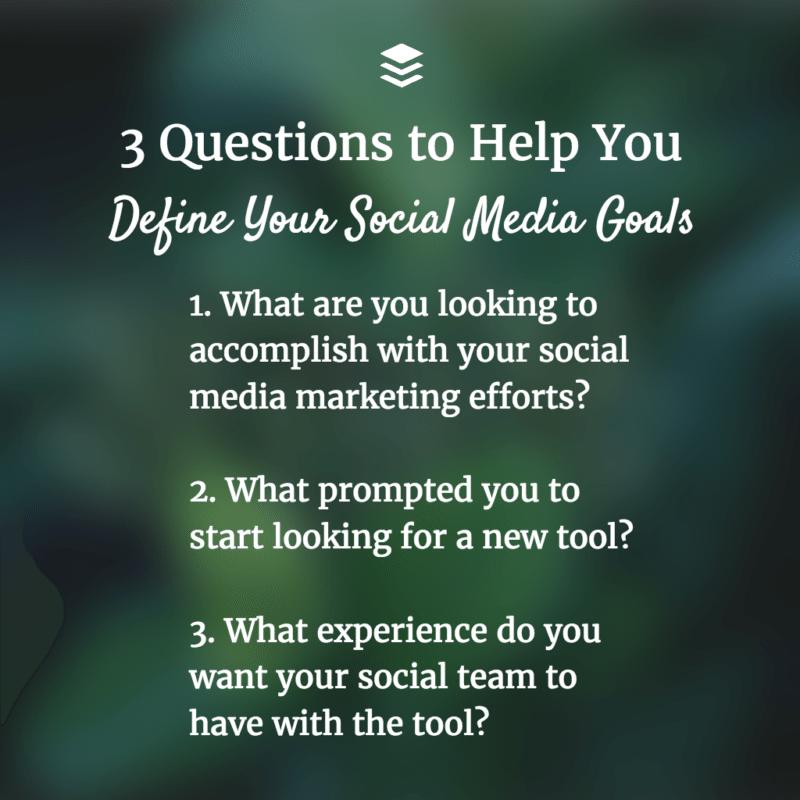 define-social-media-goals