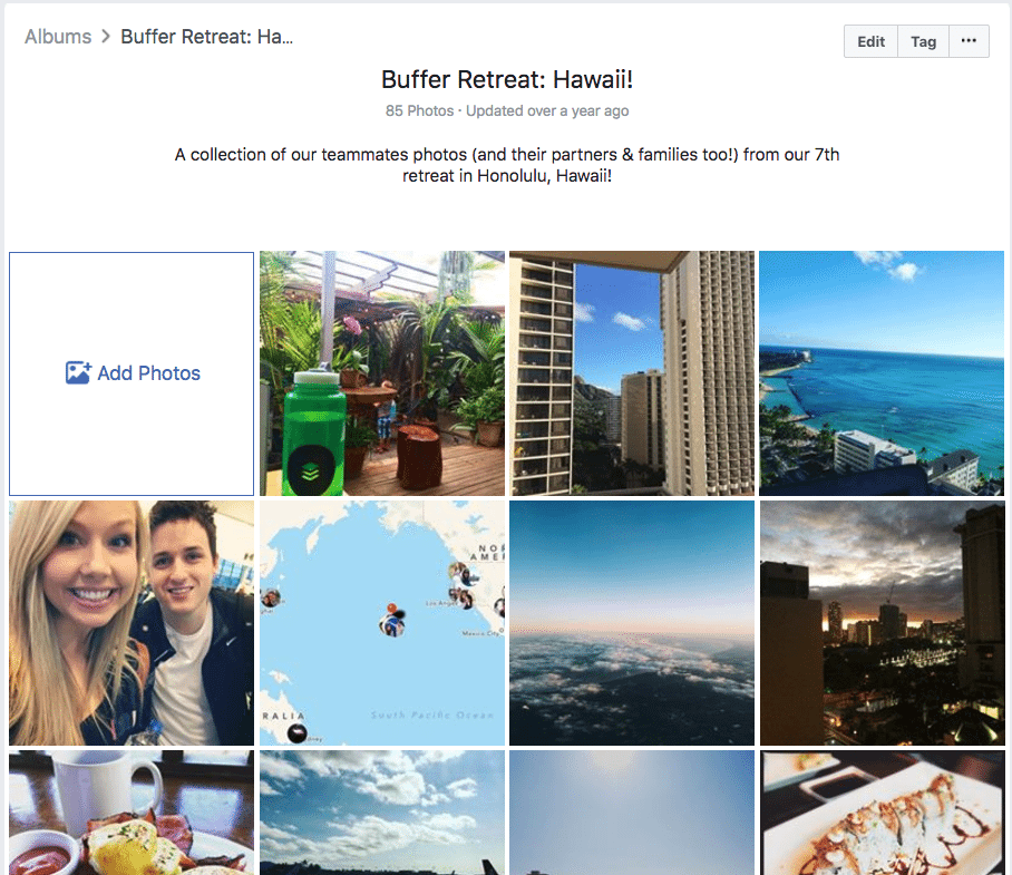 Buffer Hawaii Retreat Facebook Photo Album