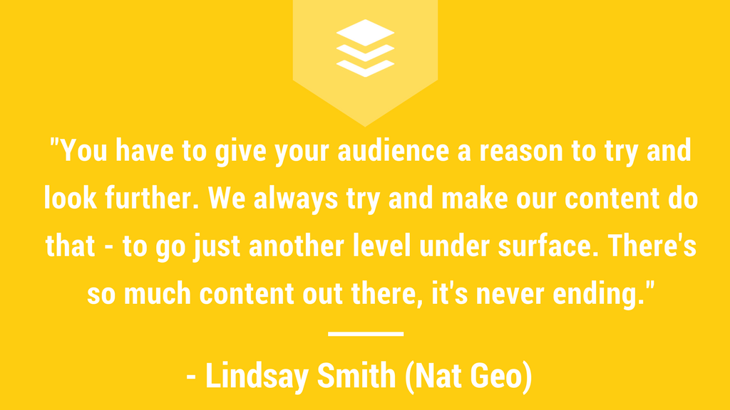 Quote from Lindsay Smith of National Geographic