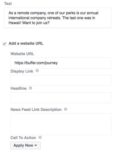 Slideshow ad URL