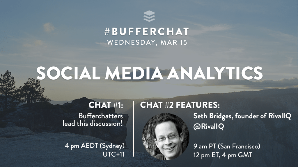 Bufferchat on March 15, 2017 (Topic = Social Media Analytics)