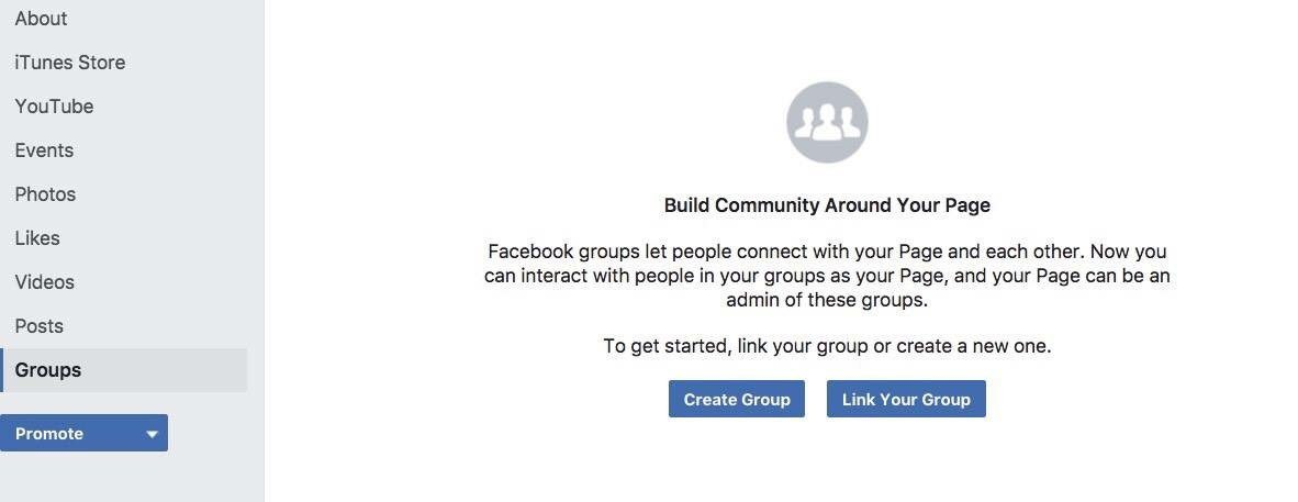Connect Facebook Page to Facebook Group