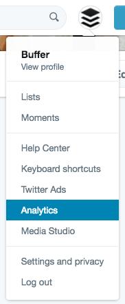 Navigating to Twitter Analytics