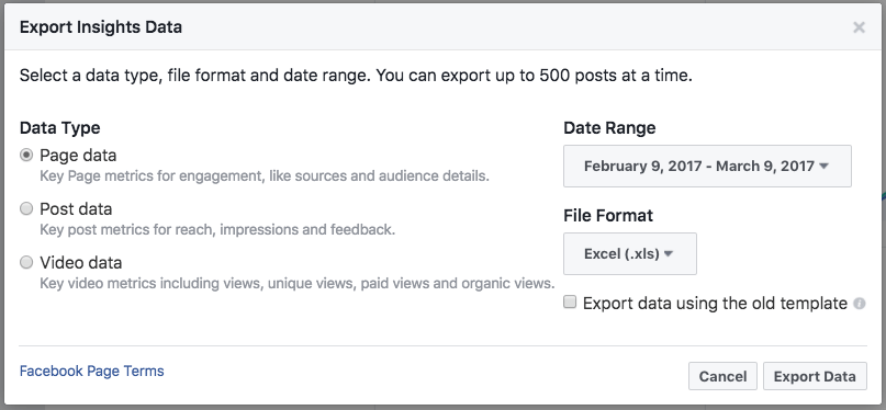 Page Summary export