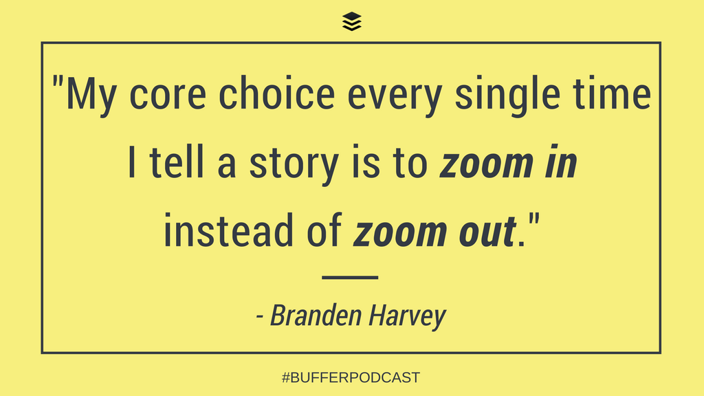 Branden Harvey Quote on Storytelling - The Science of Social Media