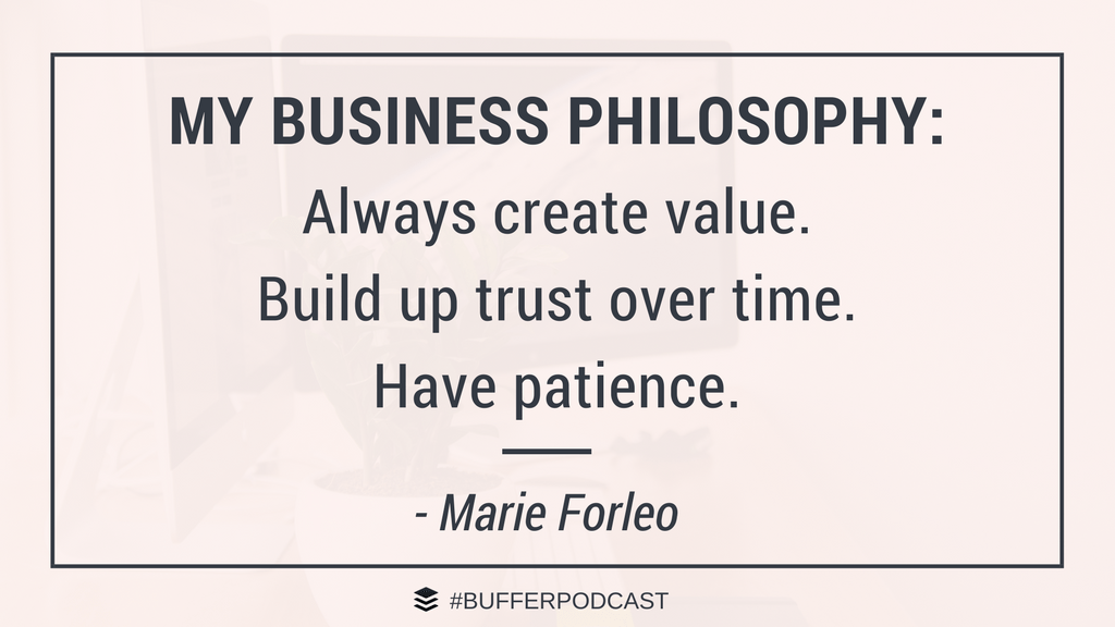 Marie Forleo Business Philosophy - The Science of Social Media