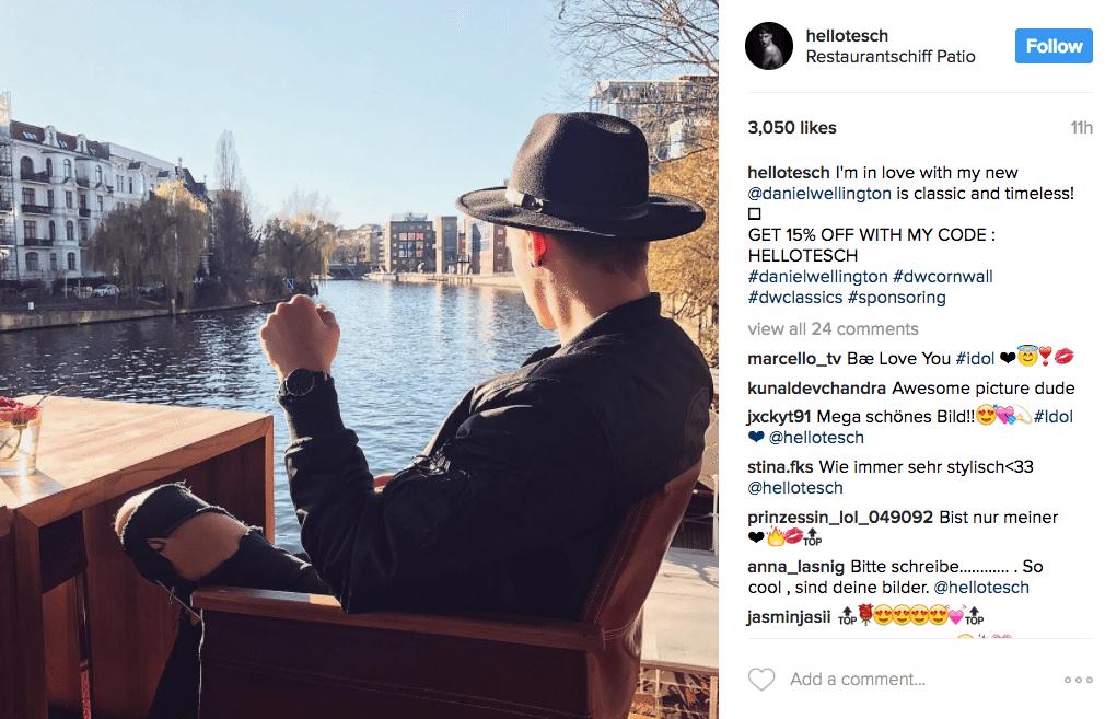 Instagram influencer marketing by Daniel Wellington