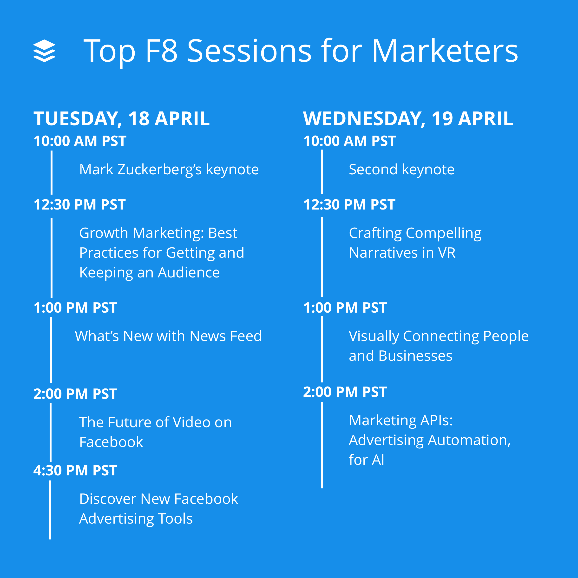 Top F8 sessions for marketers
