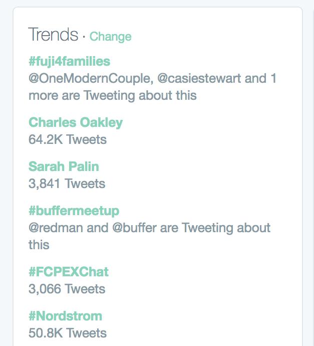 #buffermeetup trending on Twitter