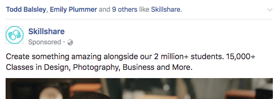 Wisdom of the crowd on Facebook ad