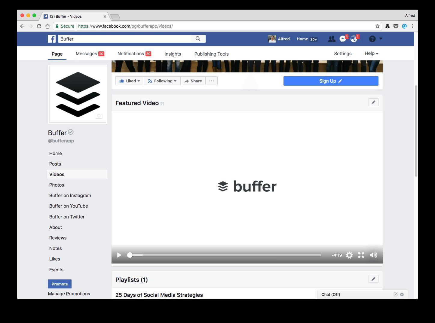 Buffer's featured video