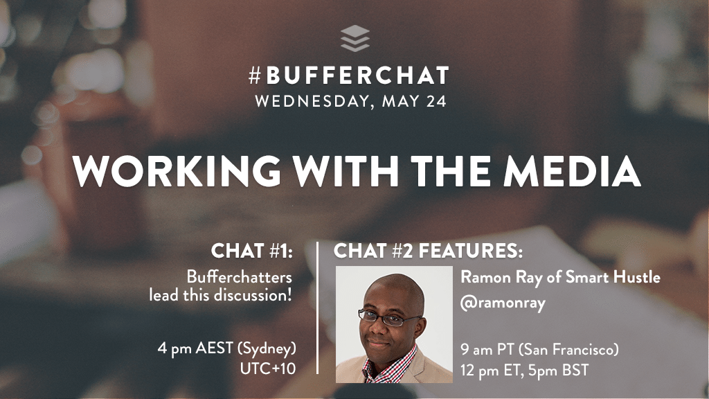 Bufferchat on May 24, 2017 (Topic = Working with the Media)
