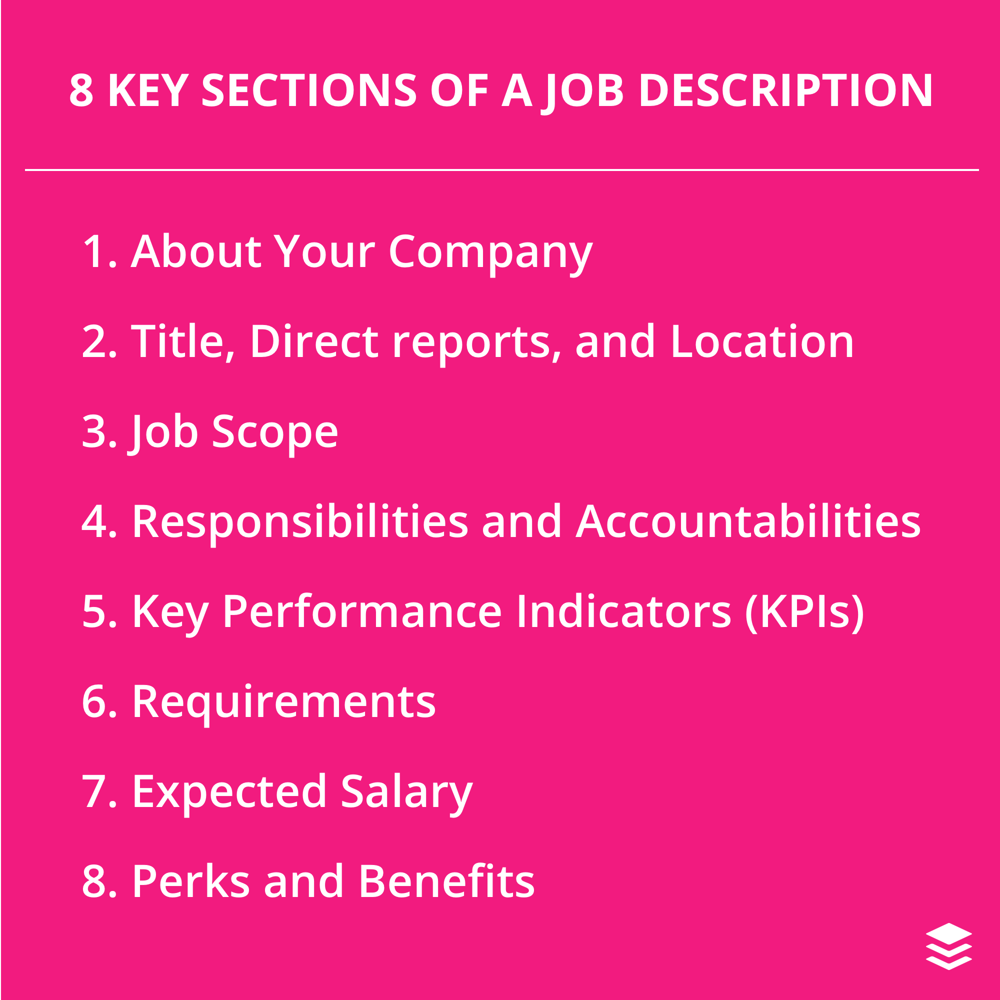 8 Key Sections of a Job Description