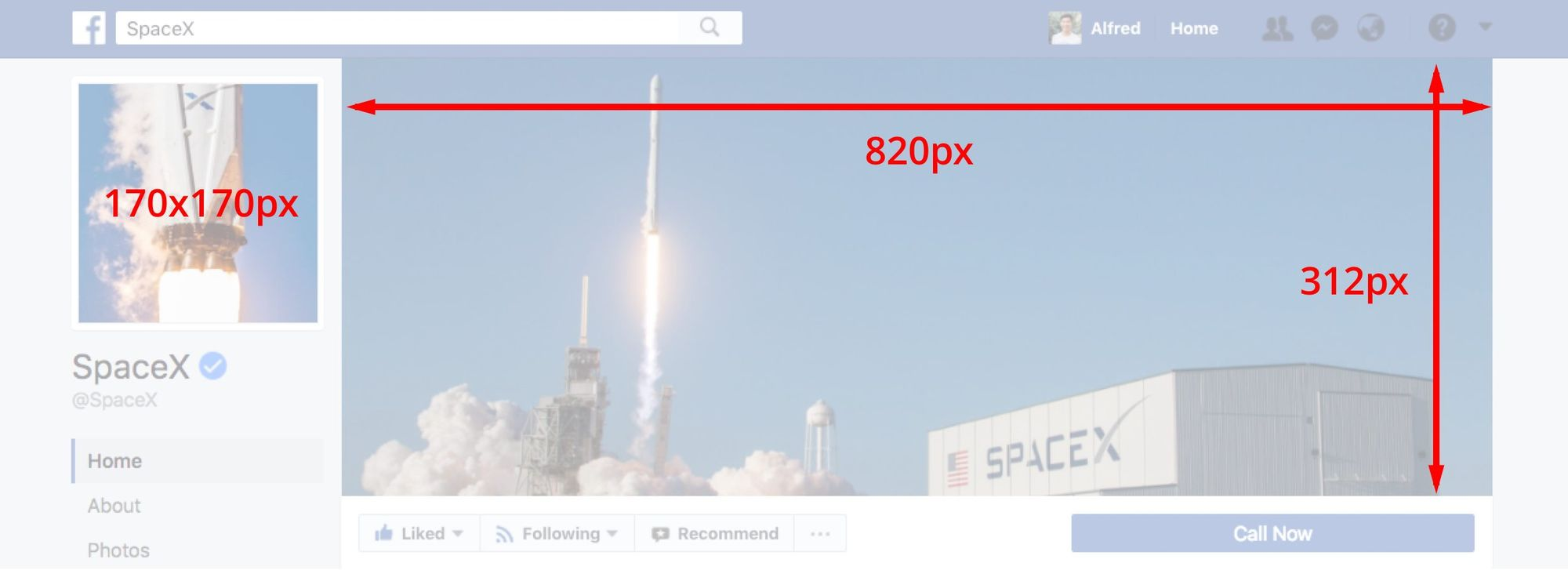 Facebook cover photo desktop sizing guide
