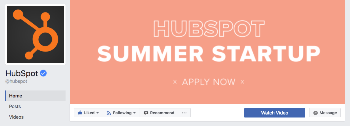 HubSpot Facebook cover photo