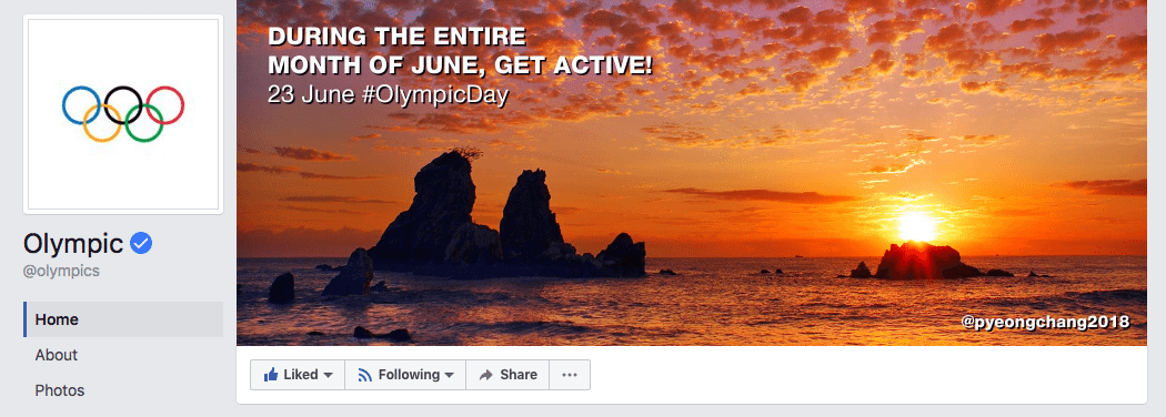 Olympic Facebook cover photo