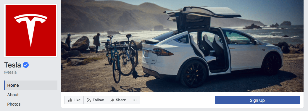 Tesla Facebook cover photo