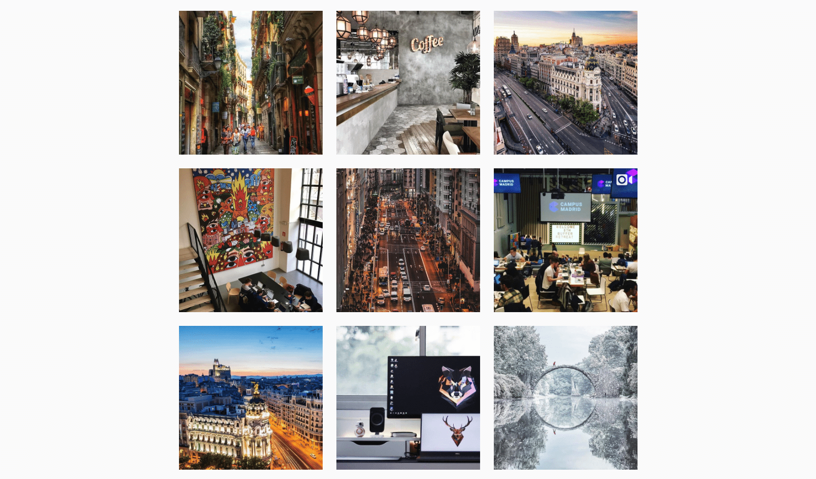 User-generated content on our Instagram profile