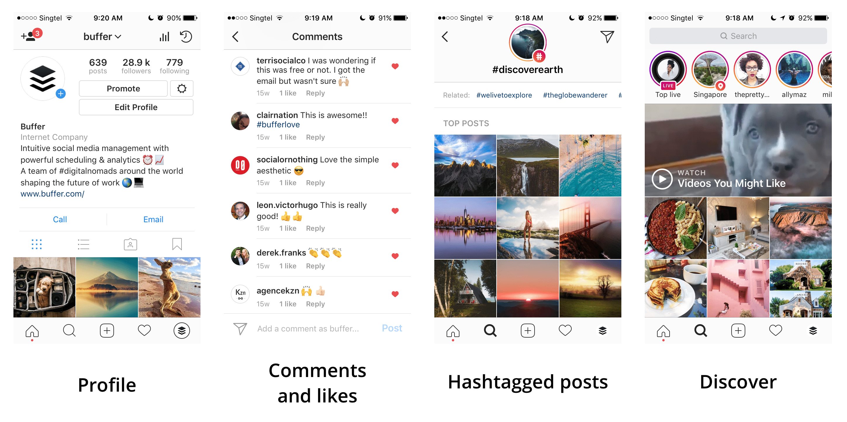 Instagram discoverability