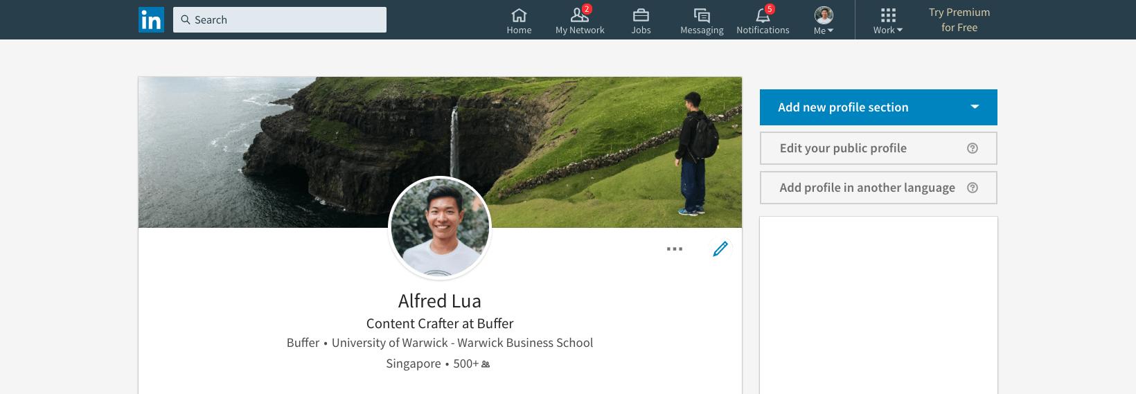 LinkedIn background photo