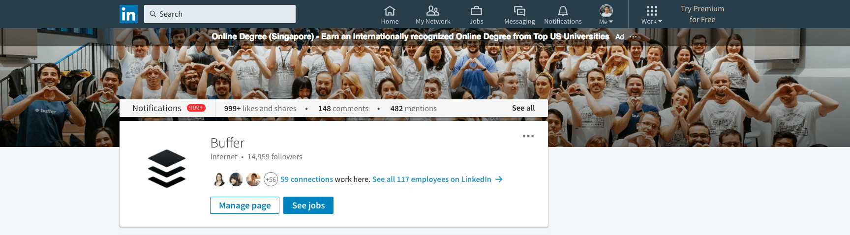 LinkedIn Company Page background photo