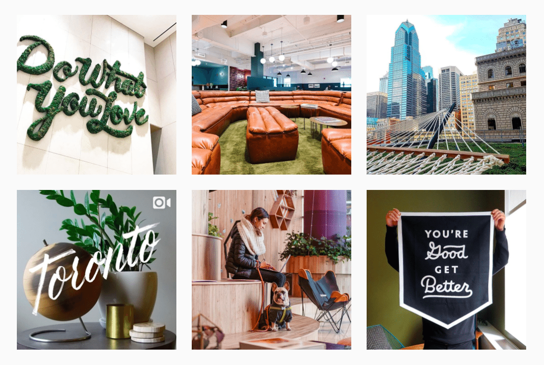 WeWork Instagram quotes