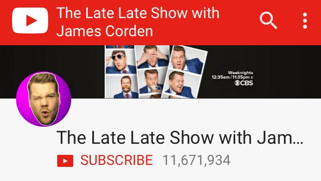 YouTube channel art overlay on mobile