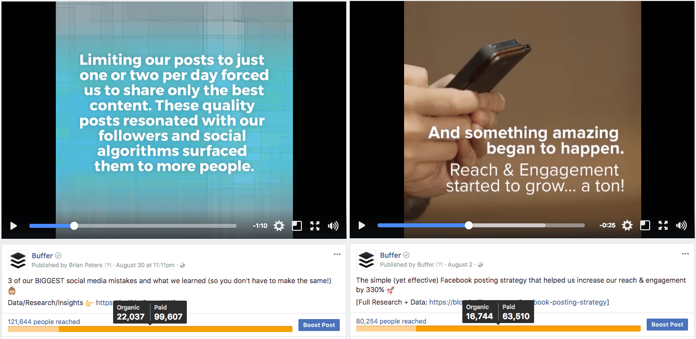 Boosted post examples
