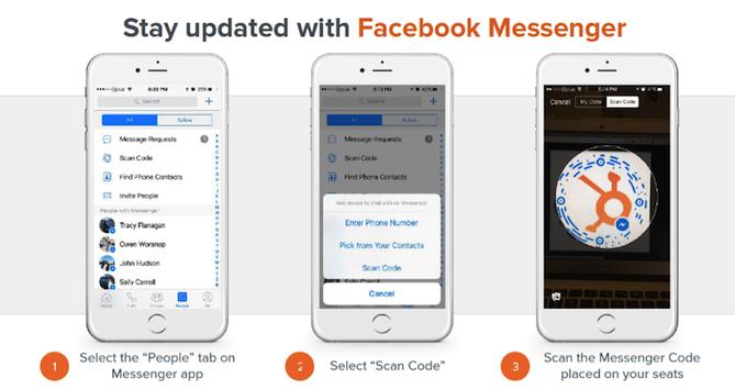 HubSpot Facebook Messenger use at events