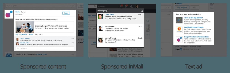 LinkedIn ad types