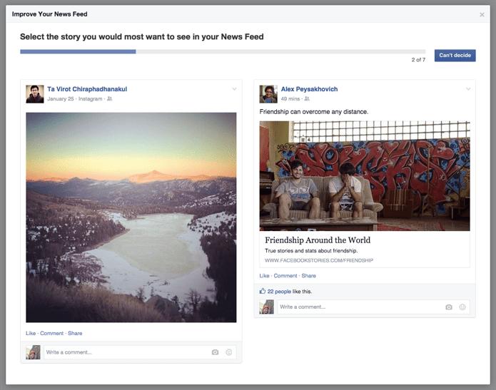 Facebook story survey