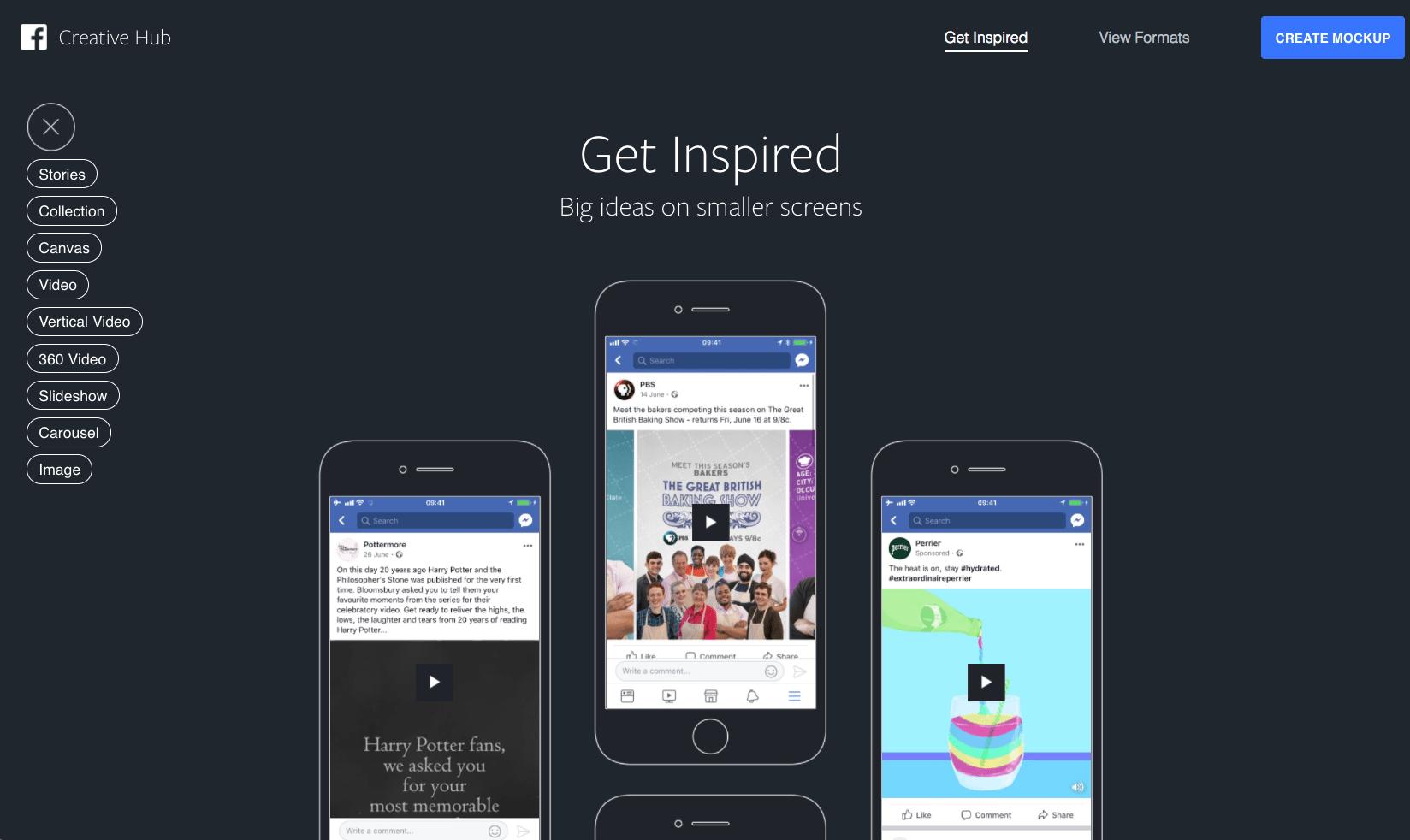 Facebook Creative Hub