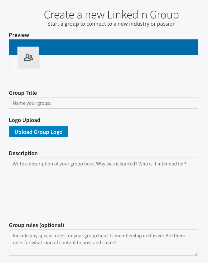 Create a LinkedIn Group
