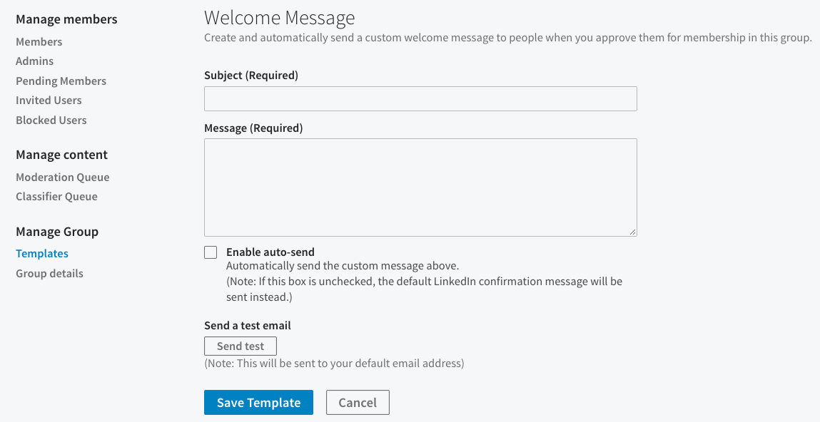 Customize message templates