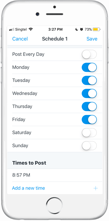 Schedule post 3