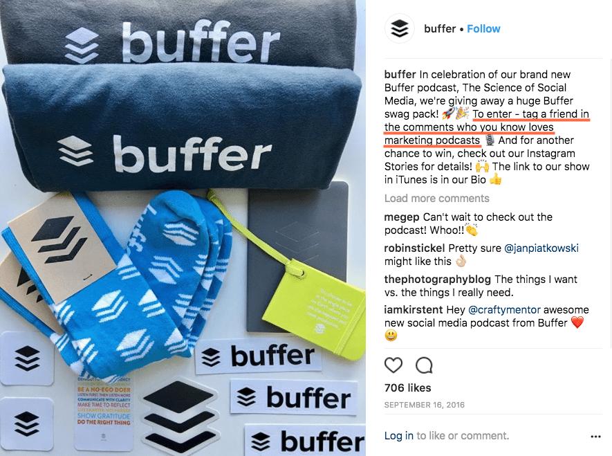 Instagram contest post