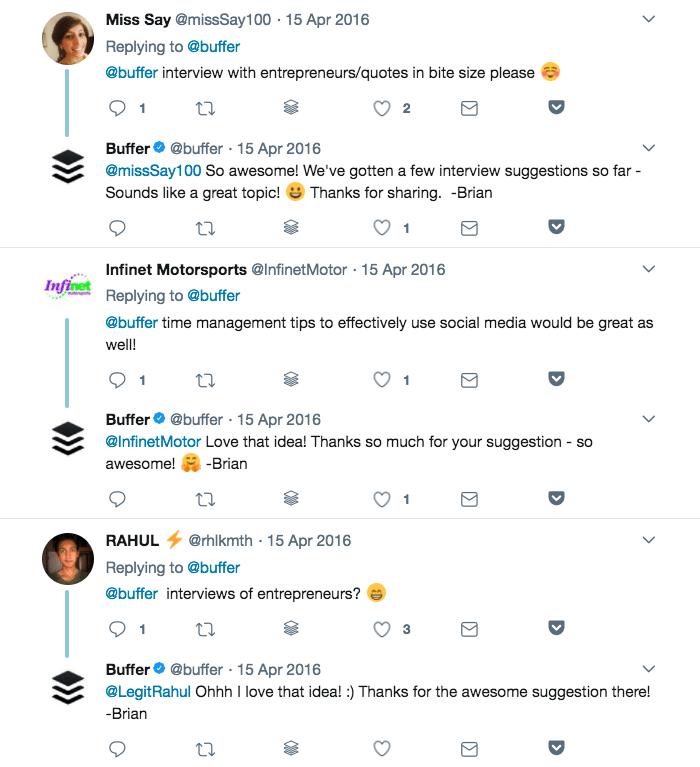 Twitter poll replies