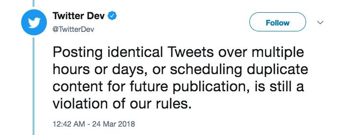Twitter rule tweet