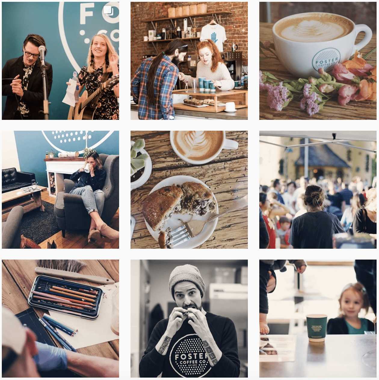 Foster Coffee Co instagram photos