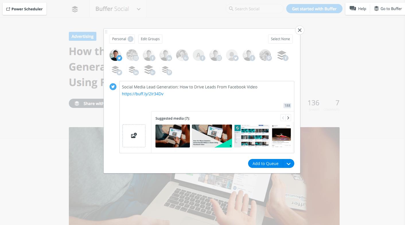 Buffer browser extension