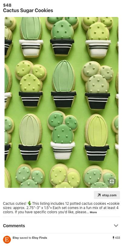 Pin: Cactus sugar cookies