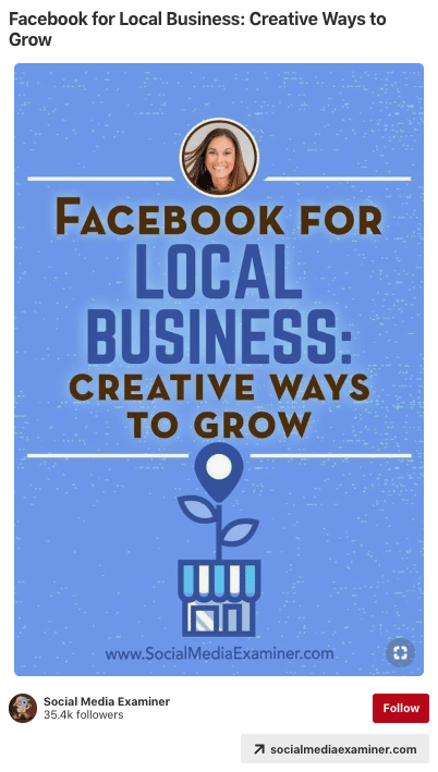 Pin: Facebook for local business