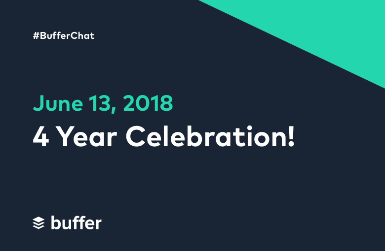 #BufferChat June 13, 2018: 4 Year Celebration!