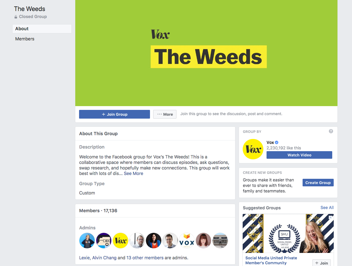 Vox Facebook Group