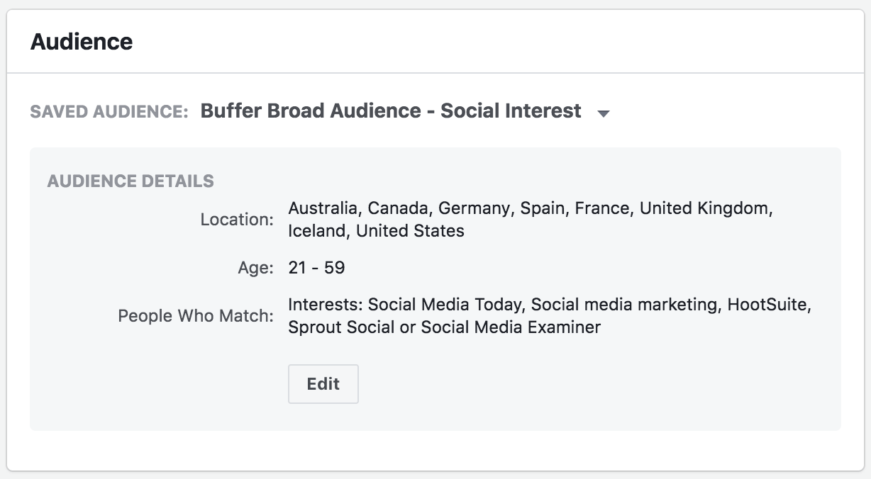 Audience Targeting Facebook