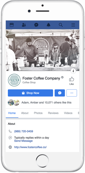 Facebook Page of Foster Coffee Company