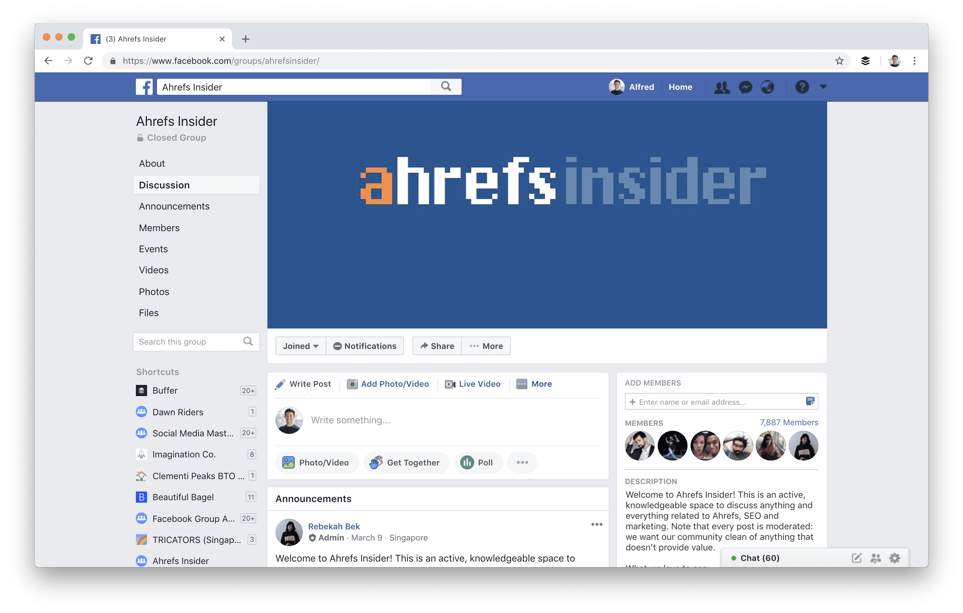 Ahref's Facebook Group