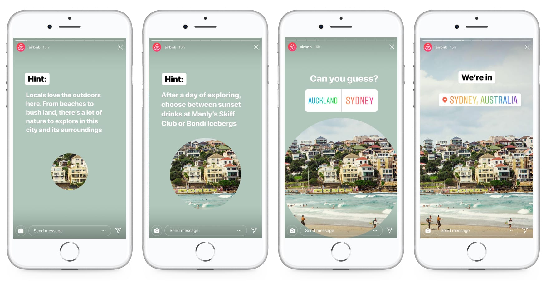 AirBnb Instagram Stories Example