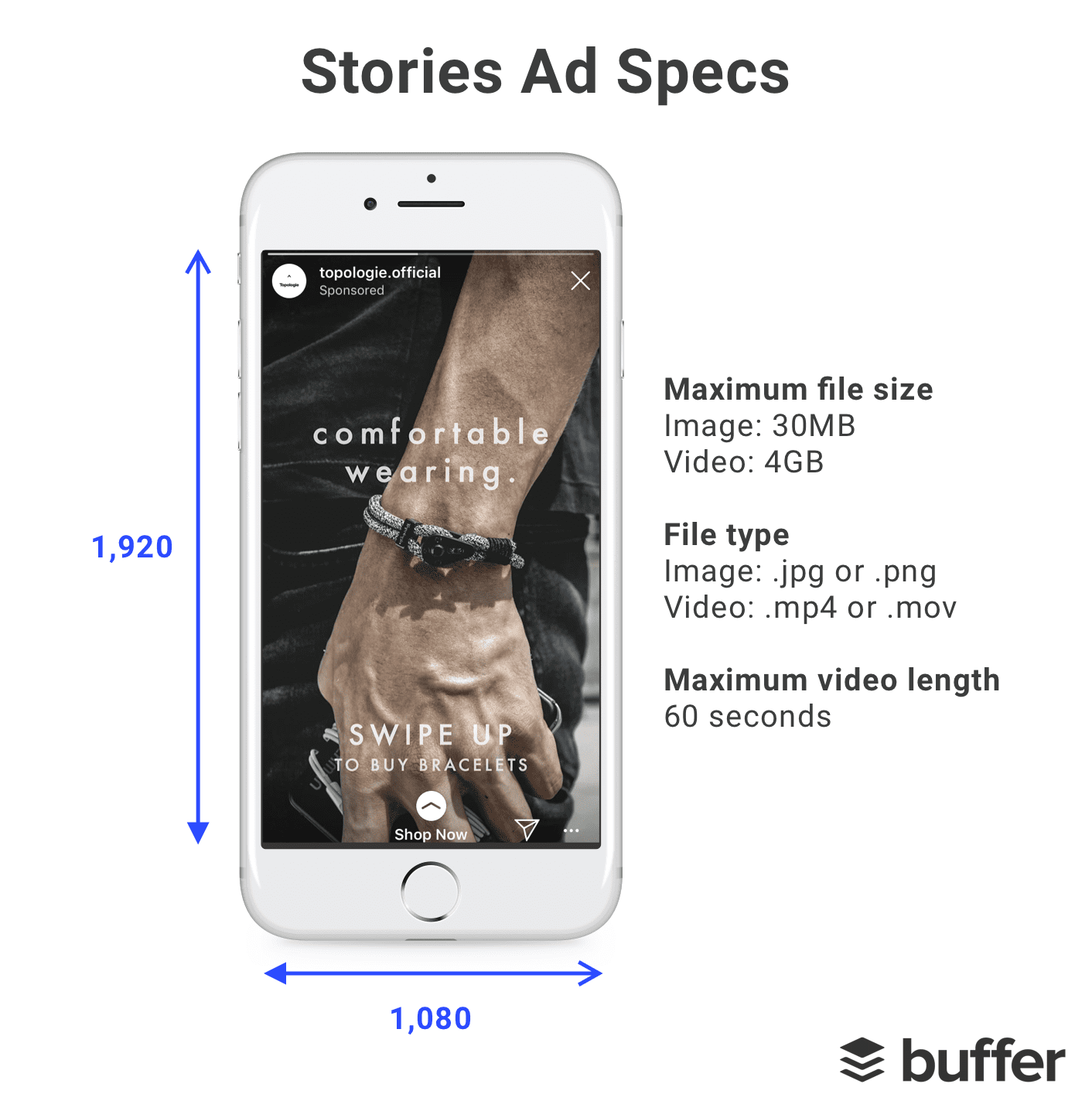 Facebook and Instagram Stories ad specs