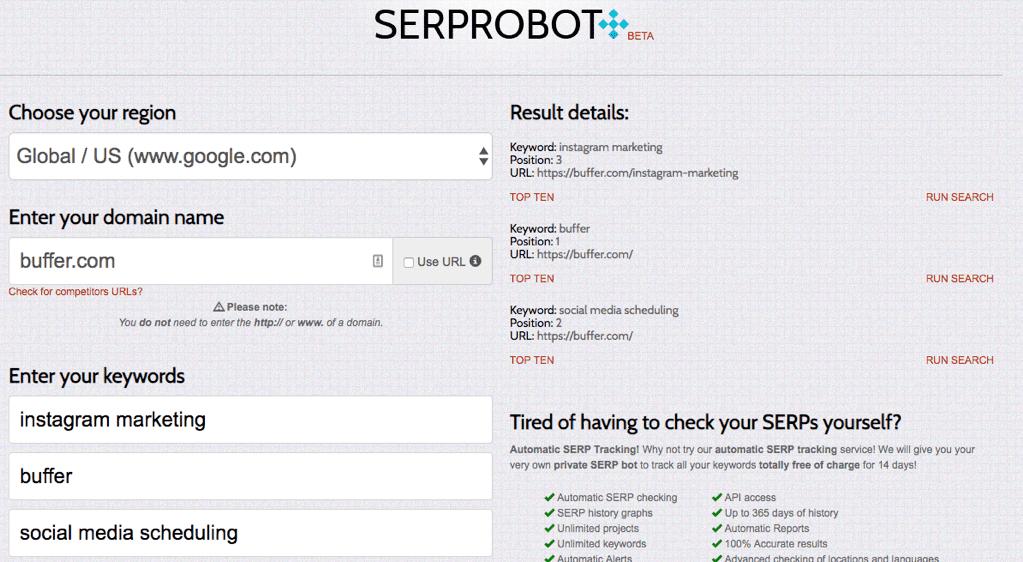 SERP Robot